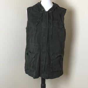 Matty M Army Green Hooded Vest Size XXL